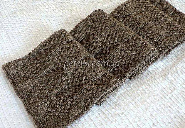 двусторонний узор для шарфа схема шарфы снуды накидки мужской