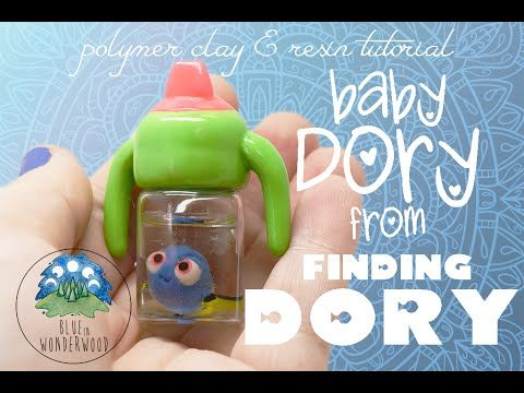 Baby Dory from Finding Dory - Polymer Clay & Resin Tutorial