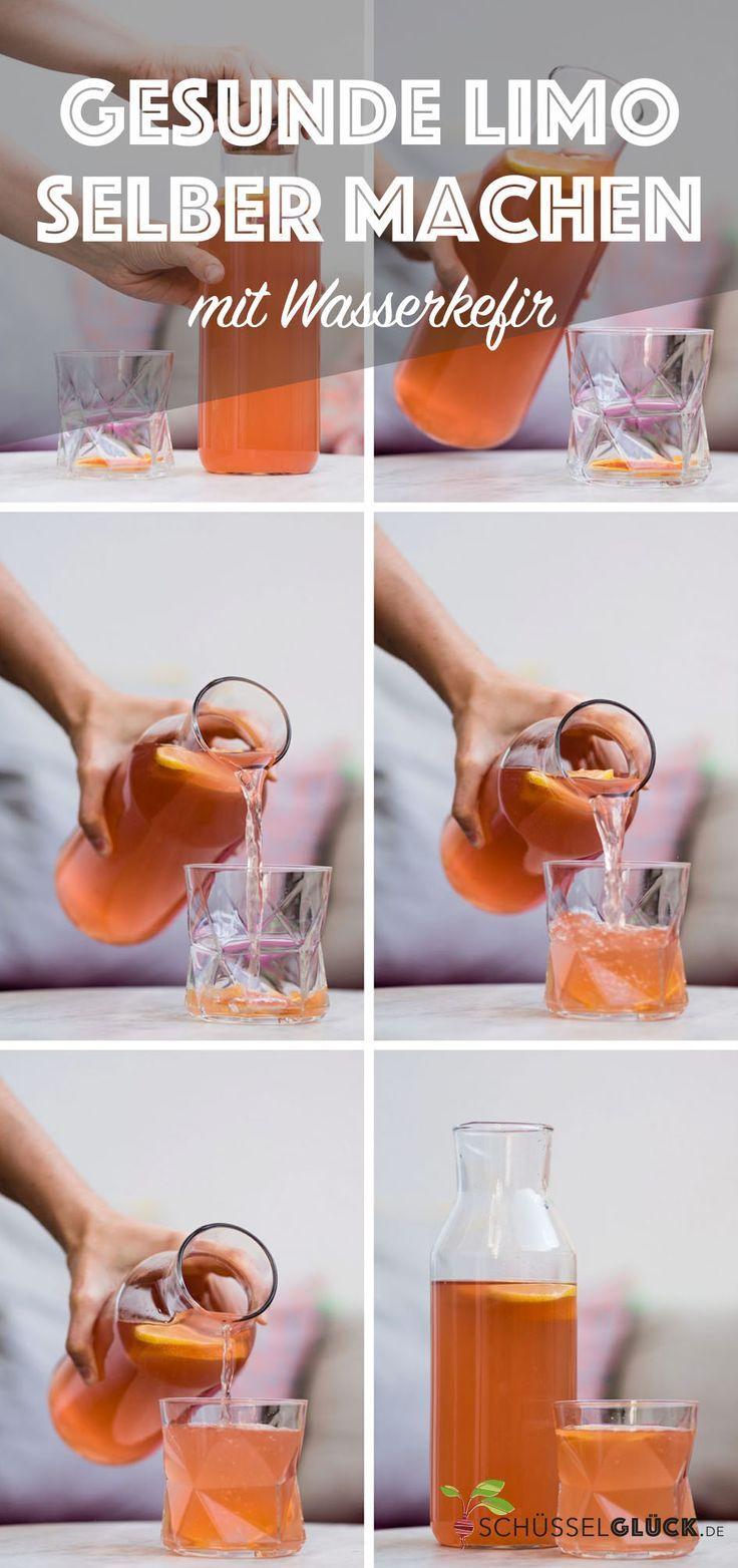 Gesunde Wasserkefir Orangenlimonade #kombuchaselbermachen