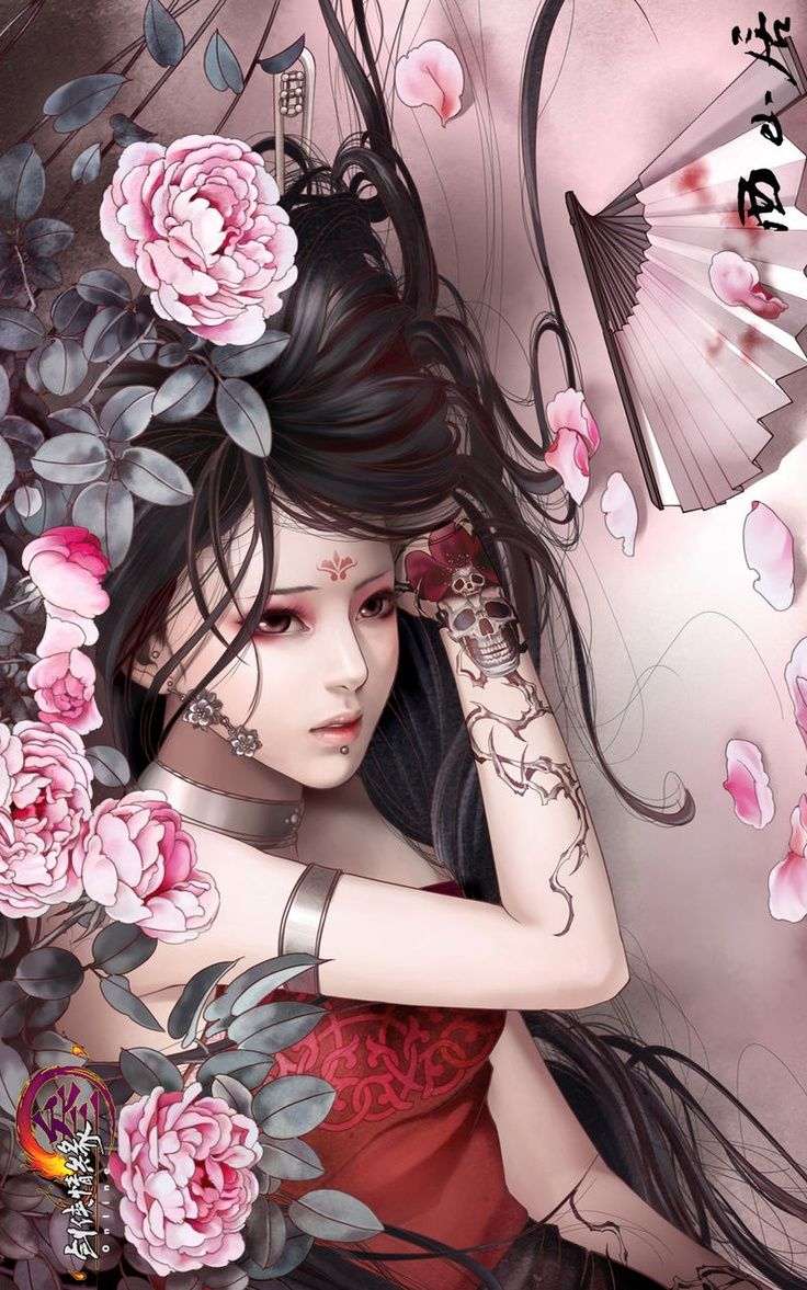 Art Oriental Fantasy Artis Bertato Seni Jepang Gadis Animasi