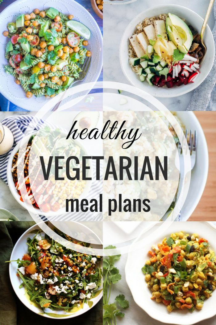 Healthy Vegetarian Meal Plan: Week of 7-21-18 images
