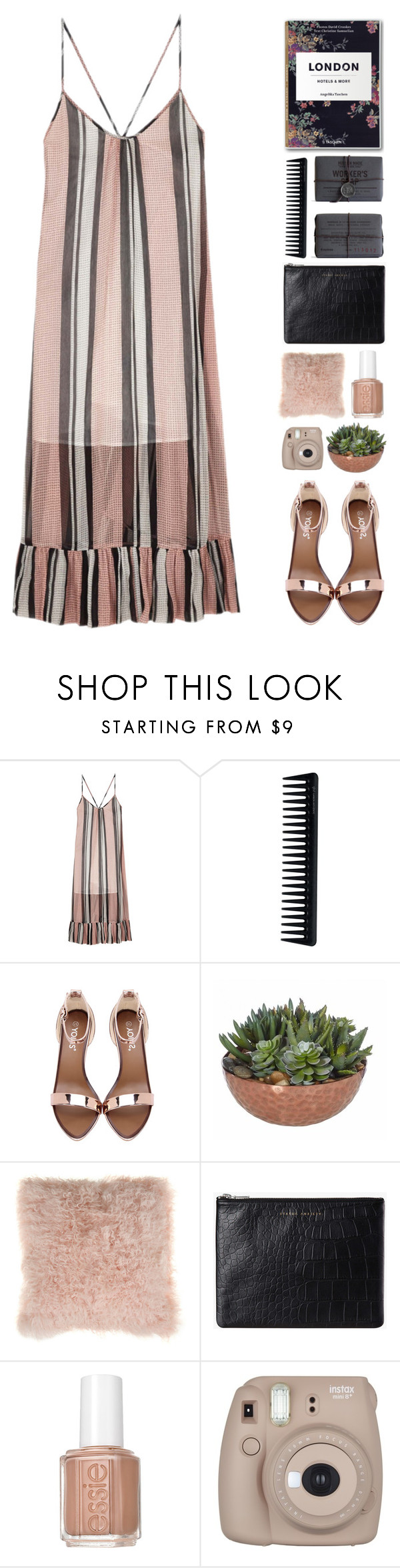 """""""It's Party Night"""" by makeupgoddess ❤ liked on Polyvore featuring Baum und Pferdgarten, Hudson Made, GHD, Bloomingville, Status Anxiety, Essie and Fujifilm"""