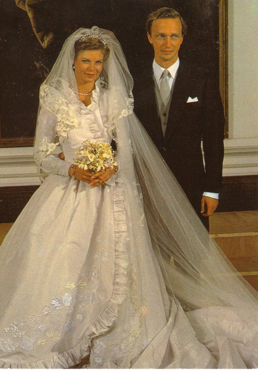 Happy 35th Wedding Anniversary Princess Marie Astrid Of Luxembourg Archduke Carl Christian Of Austria Royal Wedding Gowns Royal Brides Royal Wedding Dress [ 1200 x 835 Pixel ]