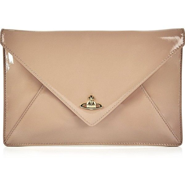 b3cf10f929 Vivienne Westwood Exclusive Patent Private Clutch ($140) ❤ liked on  Polyvore featuring bags, handbags, clutches, nude, nude purses, envelope  clutch, ...