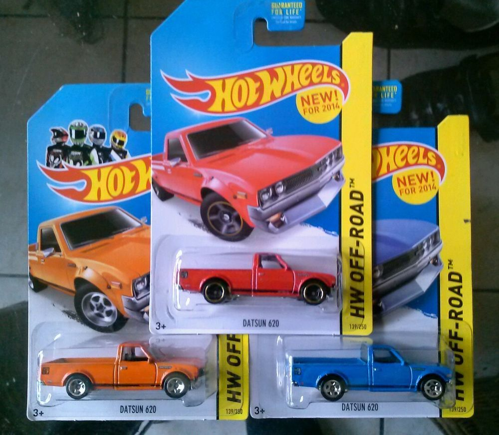 Hot Wheels 2014 HW Off-Road Datsun 620 Truck in all 3 ...