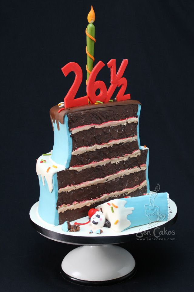 Half Birthday Cake Food Pinterest Half Birthday Cakes Half