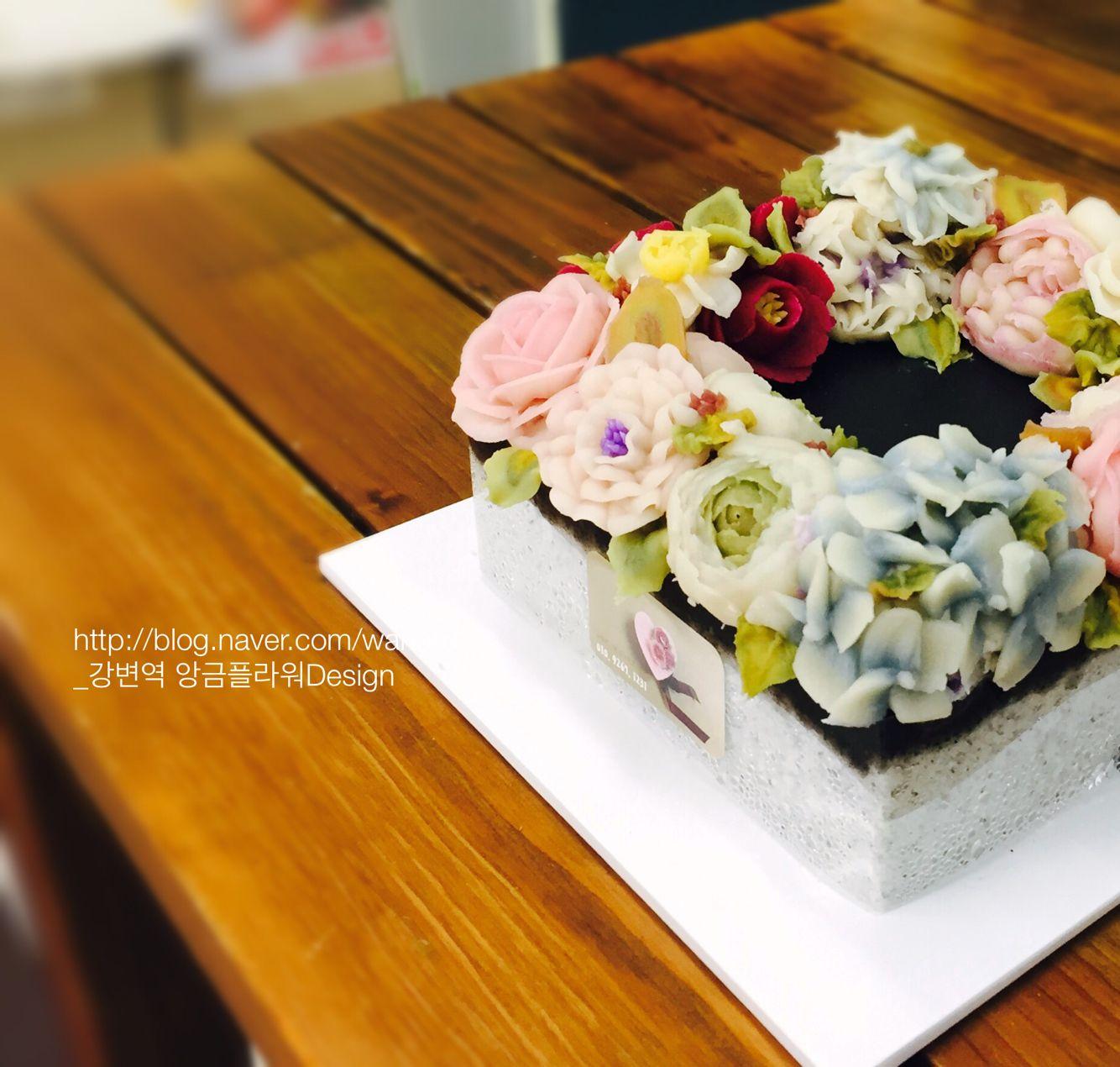 강변역 앙금플라워Design_ 흑임자설기 흑임자양갱 리스케익. rice flower cake