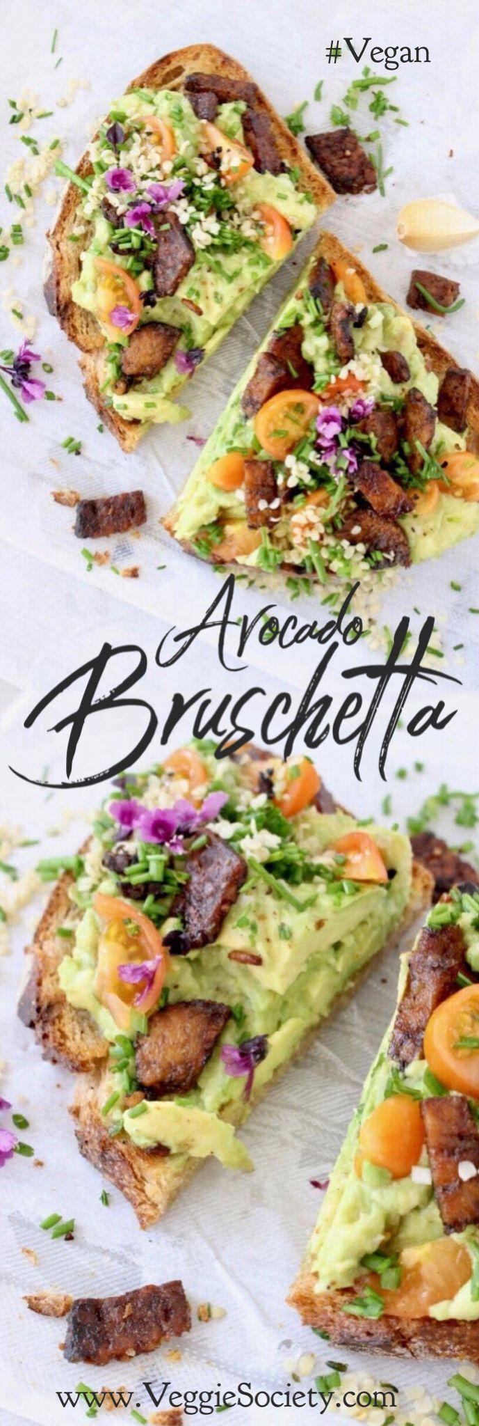 Avocado Bruschetta Appetizer Recipe • Veggie Society