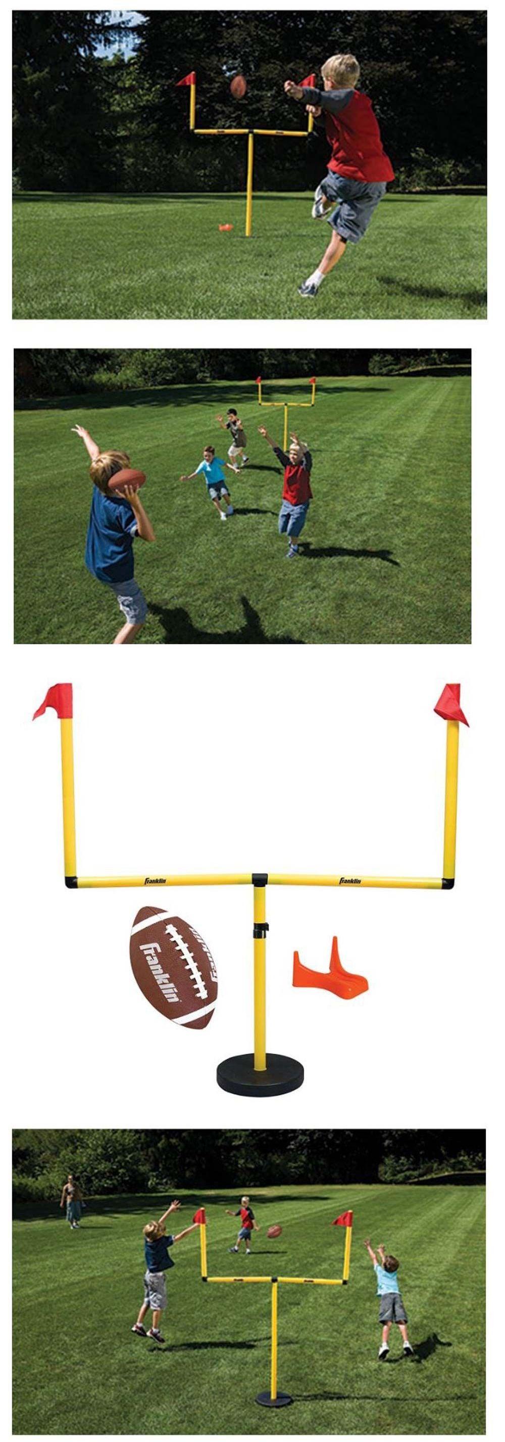training aids 159119 football goal post set for kids backyard