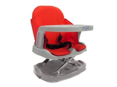 Cadeira de Papinha Burigotto Lanche Vermelho/Cinza - Cinto de Segurança 3 Pontos para Crianças até 15kg com as melhores condições você encontra no Magazine Voceflavio. Confira!
