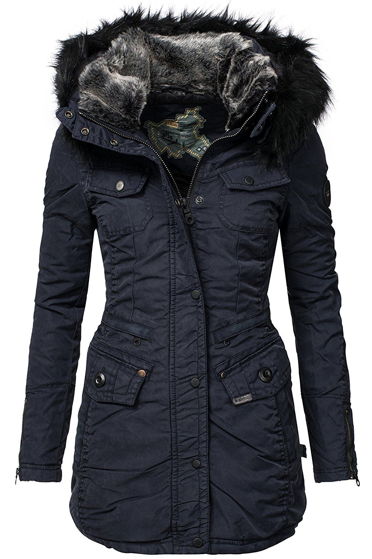 Khujo Damen Winter Mantel Retro Bugsy Amazon De Bekleidung With Images Jackets Winter Jackets Sweater Jacket