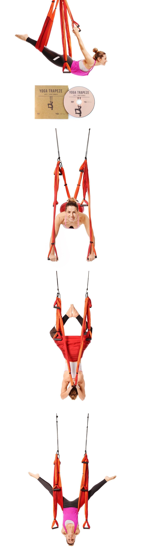 Yoga props yogabody yoga trapeze woman exercises relieve