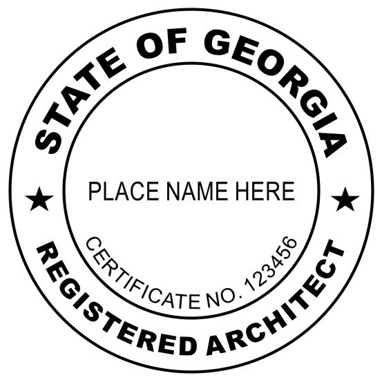 Rubber stamps are required for georgia architects the seal rubber stamps are required for georgia architects the seal stamp has to be pronofoot35fo Images