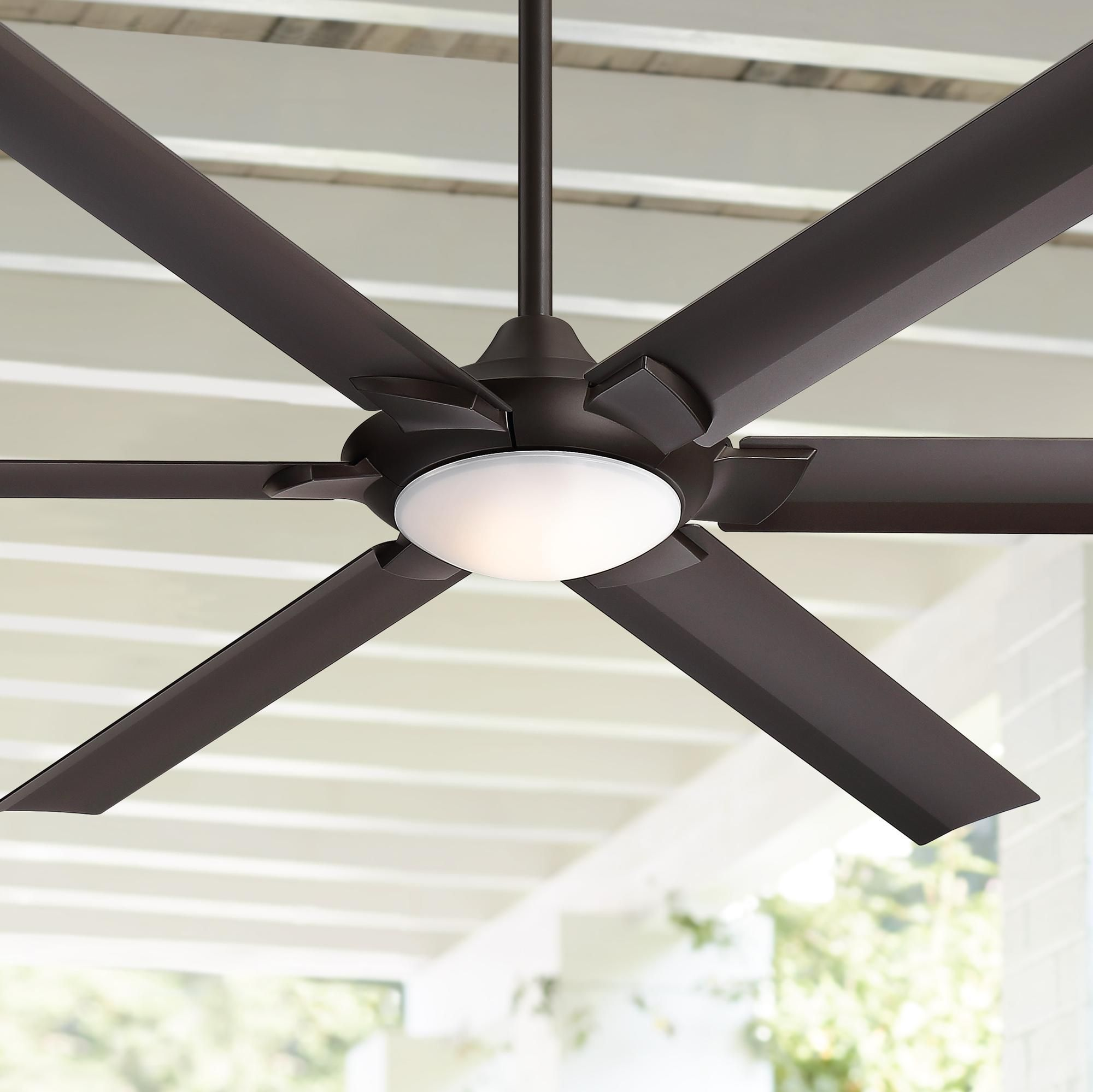 70 Inch Patriarch Oil Rubbed Bronze Damp Led Ceiling Fan Led Ceiling Fan Ceiling Fan Outdoor Ceiling Fans