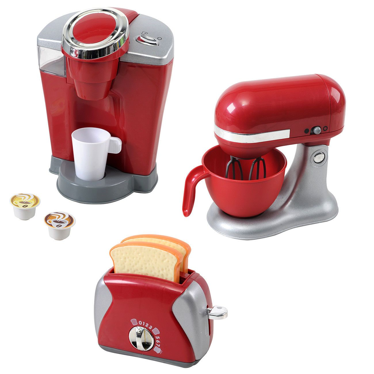 3 Piece Appliances Kids Kitchen Toys Gourmet Cook Food Pretend Play