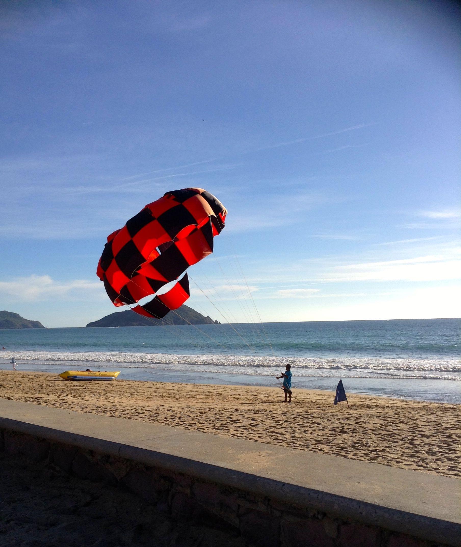 Para-sailing on the Beach