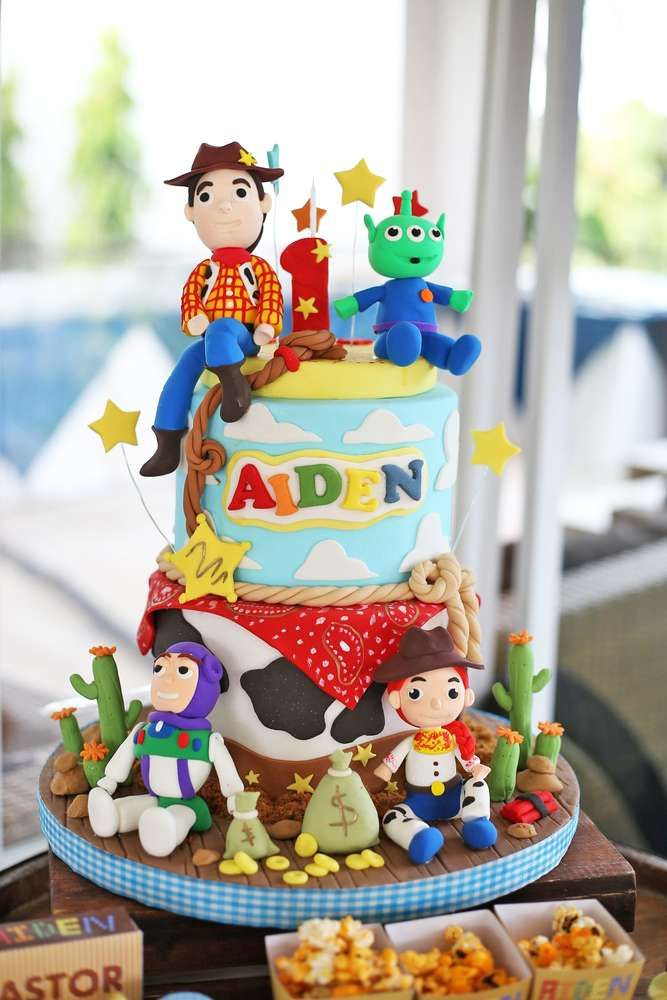 An Awesome Cake For This Toy Story Lego 1st Birthday Party