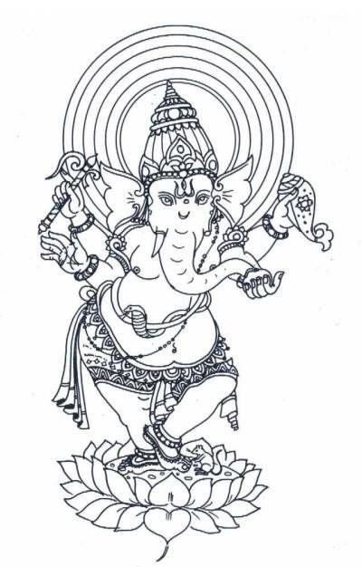 Ganesh | Ganesh | Pinterest | Dibujo