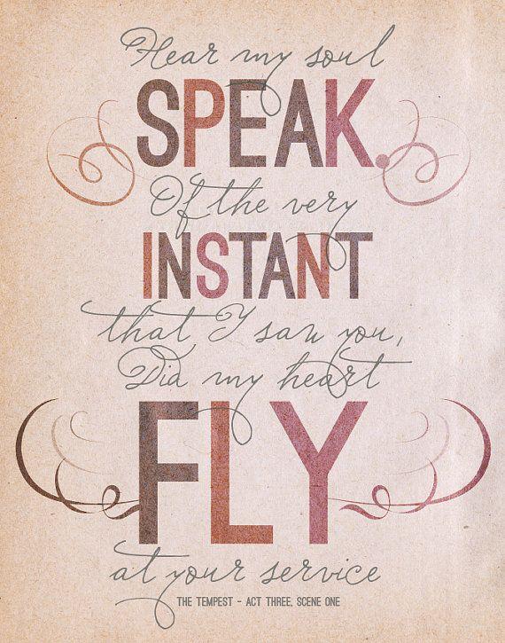Citaten William Shakespeare : Shakespear the tempest quote original by
