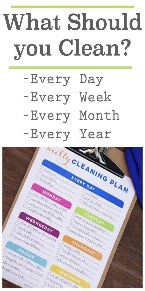Photo of Wie oft sollten Sie Dinge in Ihrem Haus reinigen?