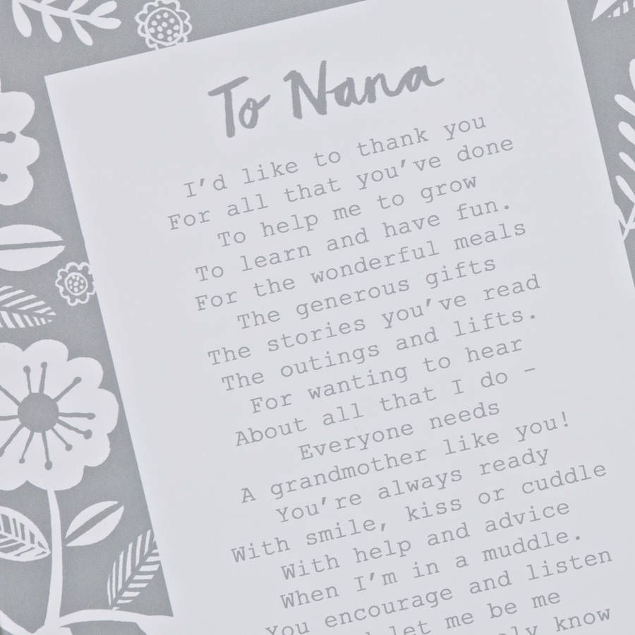 A Letter To Grandmother' Poem Print | Quotes | Grandmother poem