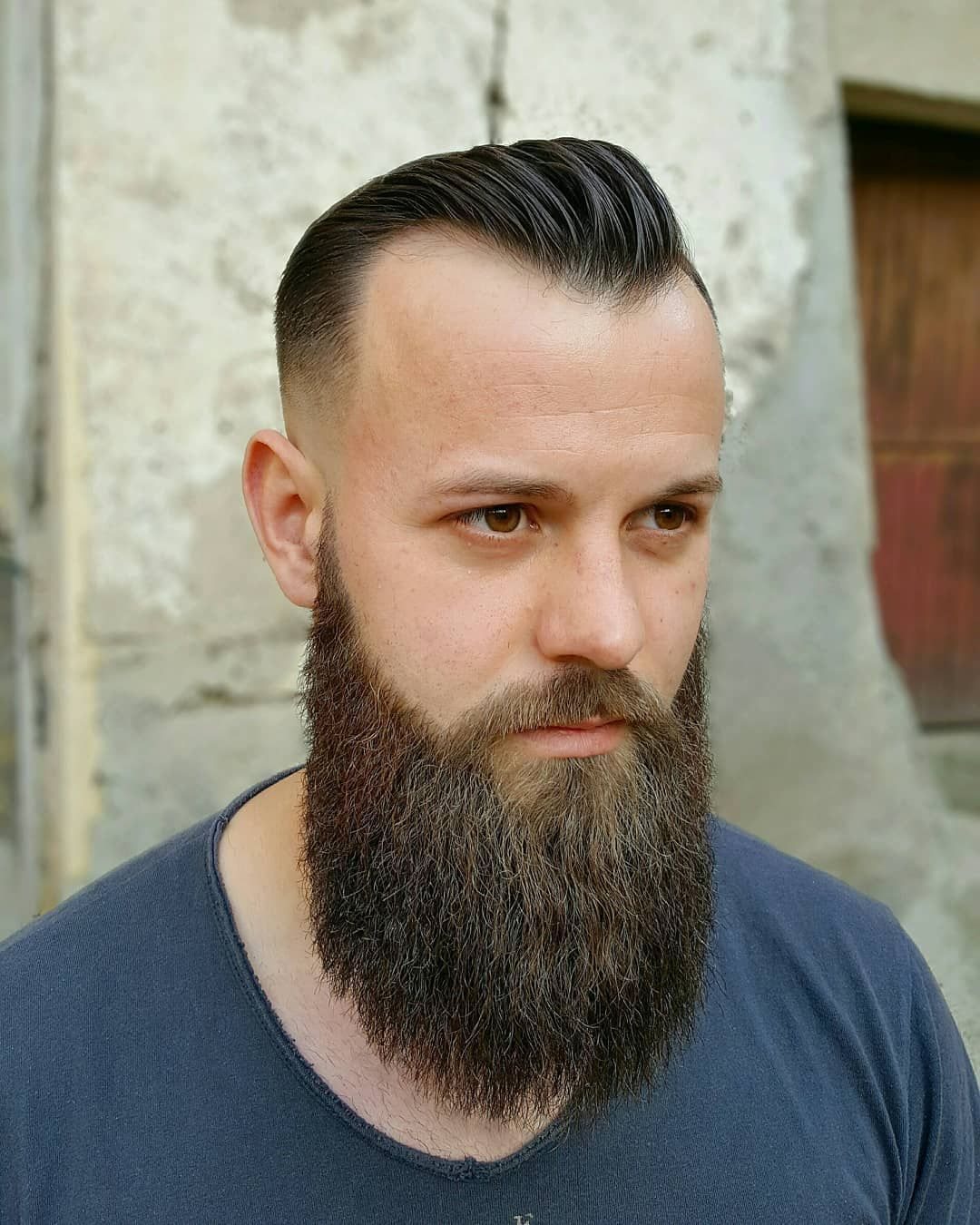 Subtle Pompadour Heavy Beard Thin Hair Men Hairstyles For Thin Hair Mens Hairstyles
