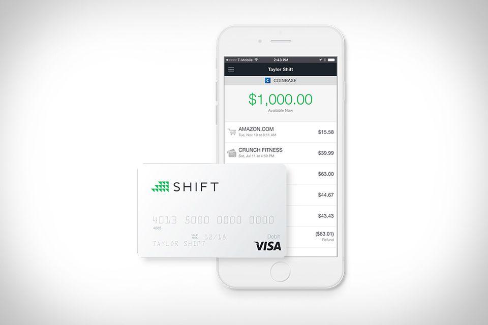 Shift Bitcoin Debit Card Debit card, Bitcoin account