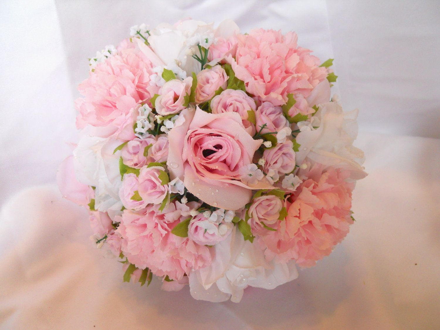 Victorian Wedding Bridal Bouquet Package 6 Pc Soft Pink ...