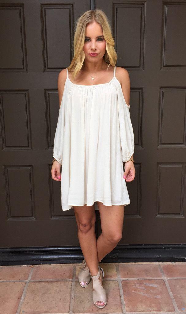 900cba7fb7d4 Cream Summer Breeze Off Shoulder Dress