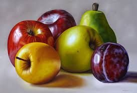 Resultado de imagen para pinturas en acuarelas de frutas