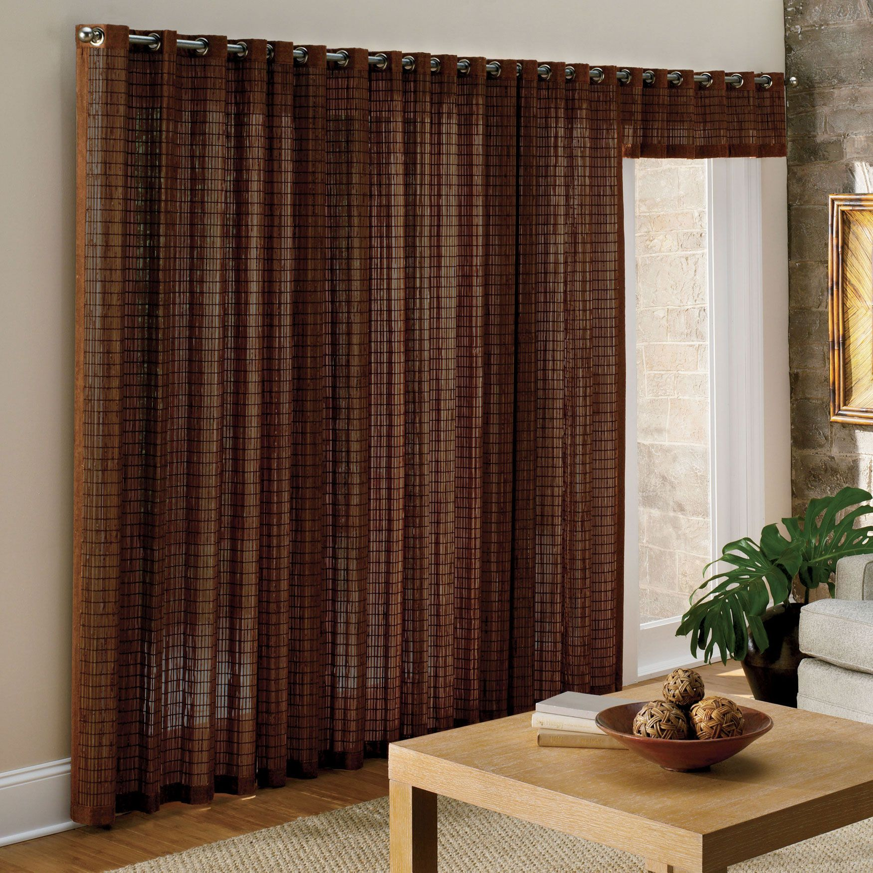 Curtains For Sliding Gl Doors Be Equipped Window Treatments Bamboo Grommet Panel Valance D Brylanehome