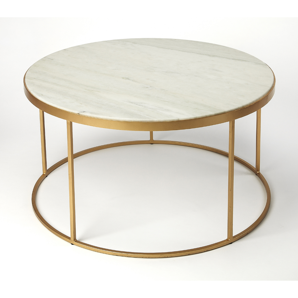 Butler Specialty Company Triton White Marble Coffee Table 9392389 Bellacor Gold Coffee Table Marble Round Coffee Table Round Mid Century Coffee Table [ 1000 x 1000 Pixel ]