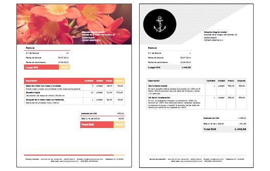 resultado de imagen de ejemplos factura diseño invoice examples