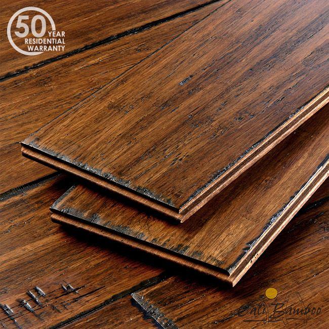 Click Wood Flooring Installation: Antique Java Narrow Plank Click Lock Bamboo Flooring