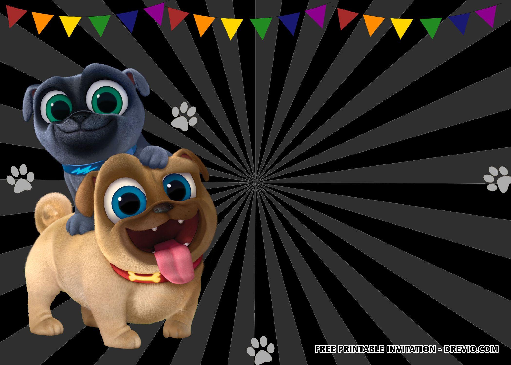 Free Puppy Dog Pals Birthday Invitation Templates Disney Invitations Free Puppies 2nd Birthday Party Themes
