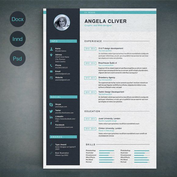 resume template a by sz81 on  creativemarket