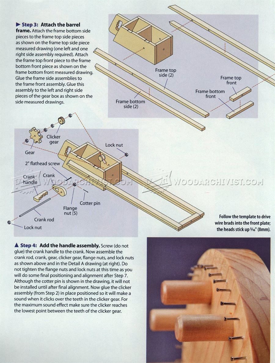 1604 rapid-fire rubber band gun - wooden toy plans | rubber