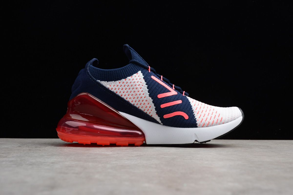New Nike WMNS Air Max 270 Flyknit Dark BlueRed White A01023