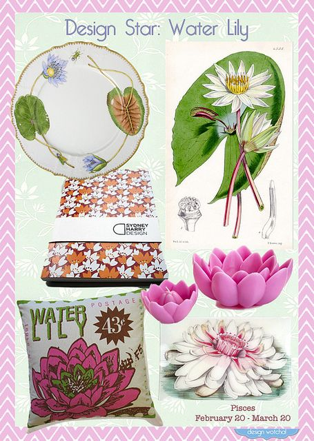Pisces Home Decor Gifts   Water Lily, Happy Birthday By Design Wotcha! Http: