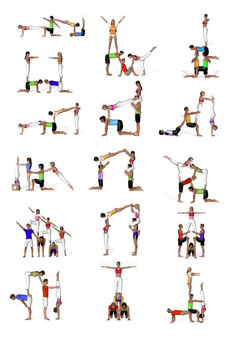 Cuartetos acrobacia piso pinterest acrobacias circo for Ejercicios de gimnasia