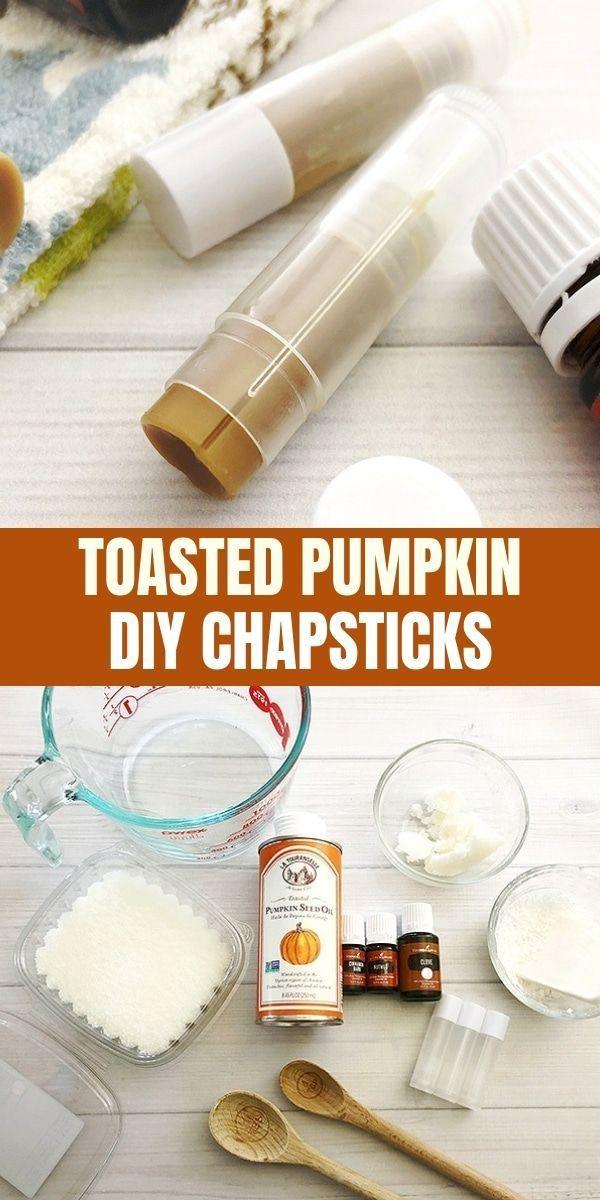 Homemade Pumpkin Spice Lip Balm #fallbeauty