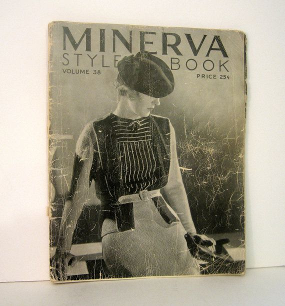 Vintage Fashion 1934 Minerva Style Book With Knitting Patterns Instructions Include A Wedding Dress 20 Outfits In All Fashion Books Vintage Vintage Fashion