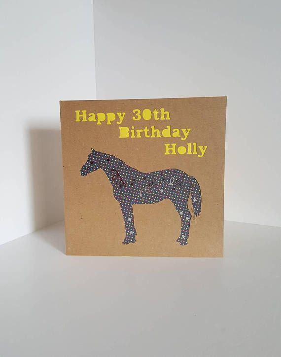 Check Out This Item In My Etsy Shop Https Www Etsy Com Uk Listing 555610239 Horse Birthday Card Horse Birth Horse Birthday Birthday Cards Happy 30th Birthday