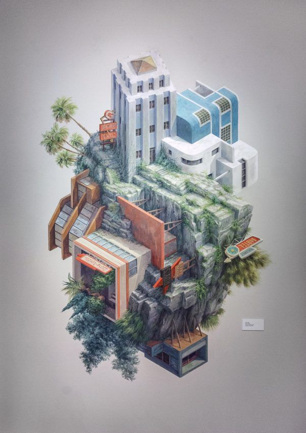 Gentil Surreal Architectural Illustrations By Cinta Vidal Agulló