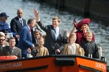 Dutch Royal Family celebrates King's Day 2015 in Dordrecht. ANP Foto