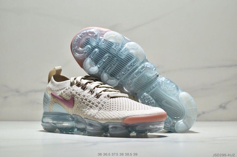 19115c70b57cf 2018 New Nike Air VaporMax Moc 2 Particle Beige Mauve-Purple Women s  Running Shoes