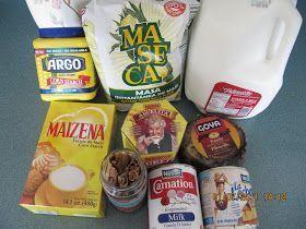 Photo of ok take up, cornstarch, granny chocolate, milk, cinnamon, piloncillo or panela, milk, and …