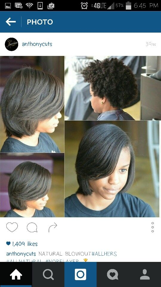 Silk Press On 4c Hair Silk Press Natural Hair Natural Hair Styles Blowout Hair