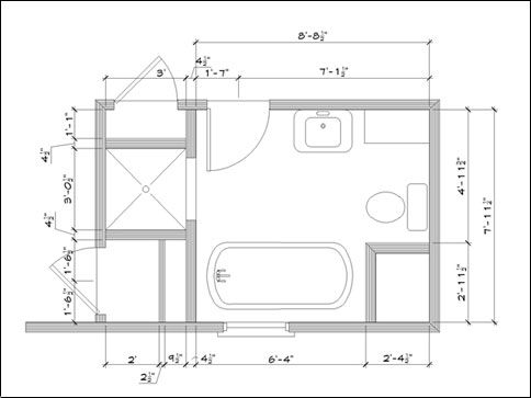 Bathroom Design Plans Fair Bathroom Floor Plans  Google Search   B A Ñ O S   Pinterest Design Inspiration
