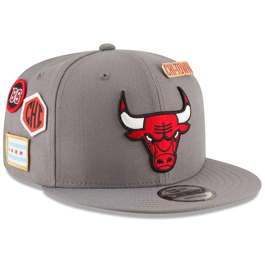 e0174ef2dc8 Men s Chicago Bulls New Era Gray 2018 NBA Draft 9FIFTY Adjustable ...